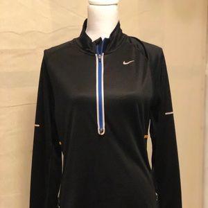 Black nike quarter zip long sleeve shirt